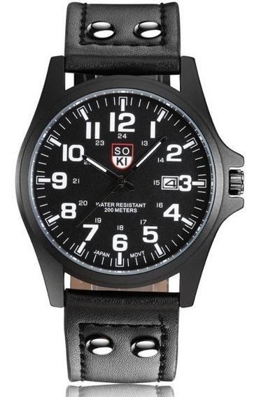 Reloj Soki Black Nuevo Moda Original Estilo Casual