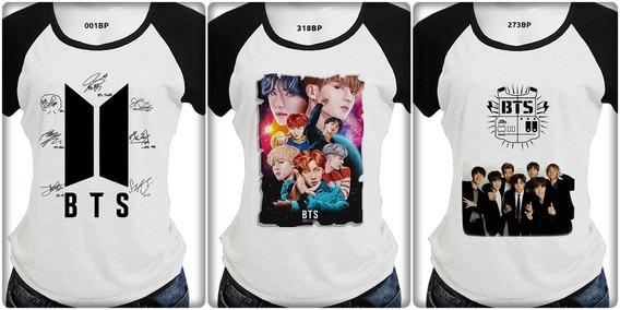 3 Camiseta Infantil Masculina Ou Feminina Bts 55 Opcao Costa