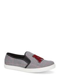 Sneaker Slip On Mujer Gris Multicolor 2621586