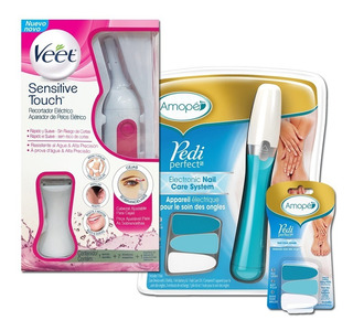 Veet Sensitive Touch + Amope Lima De Uñas + Repuesto