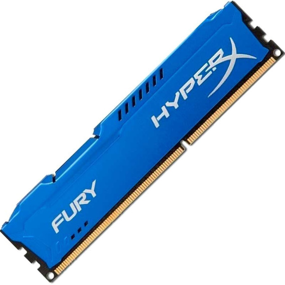 Memória Kingston Hyperx Fury 8gb 1866mhz Ddr3 Cl10 Blue