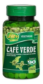 Kit 09un. - Café Verde 400mg 90 Comprimidos Unilife Vitamins