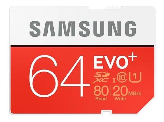 Cartão Samsung Micro Sdxc Evo Plus 64gb 100mb/s Uhs Sd 4k
