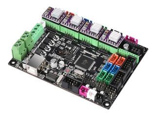 Mks Gen L V1placa Impresora 3d 12/24v + 4 Drivers Drv8825