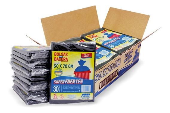 Polpusa Bolsa Basura Negra 50x70 Cal 175(caja C/360 Bolsas)