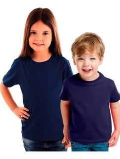 Pack Oferta X6 Remeras Lisas Niño -algodón-todos Los Colores