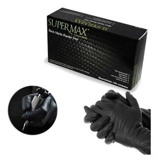 Luva Procedimento Nitrílica Black Preta