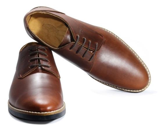Zapatos Justicialistas Jp Cuero Vacuno Marrón (perón Eva)