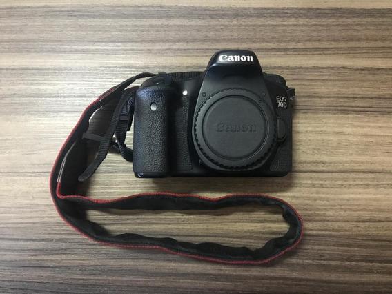 Canon Eos 70d (corpo) + 2 Baterias