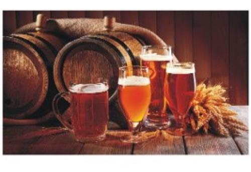Painel Adesivo Decoração Bar Barril Chopp Cerveja Cevada