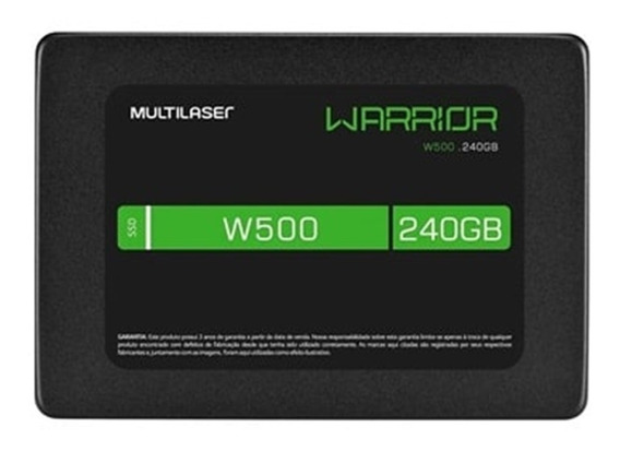 Ssd Gamer Warrior 2,5 240gb W500 - Gravação500 Mb/s - Ss210