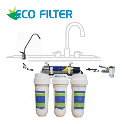 Purificador De Agua (4 Etapas Con Esterilizador Uv) Ecofilte