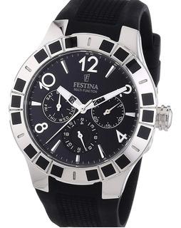 Reloj Festina F16675 Multifuncion Carcasa Acero Bisel Strass