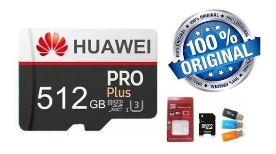 Micro Sd 512gb Huawei U3 C10. 90mb/s - Pronta Entrega
