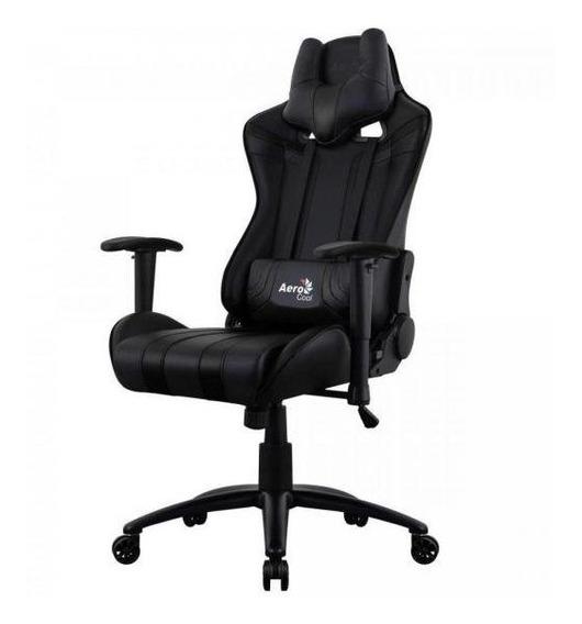 Cadeira De Escritório Aerocool Preta Couro Air-b Ac120c