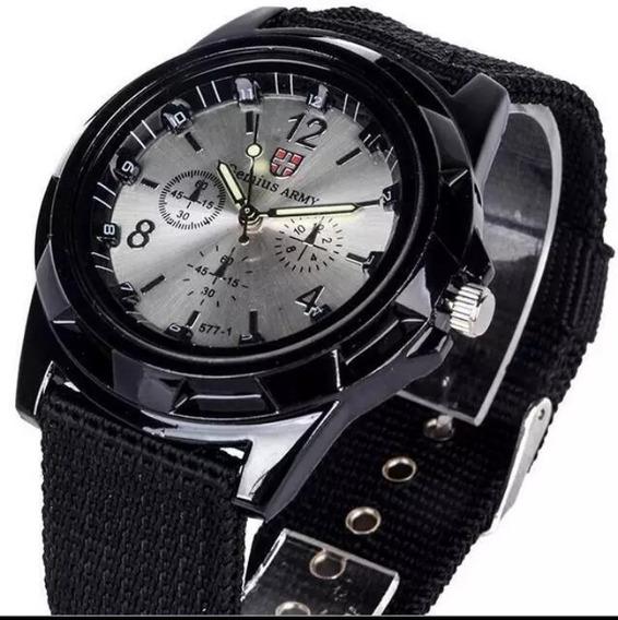 Relógio Masculino Pulseira Militar Top De Luxo...