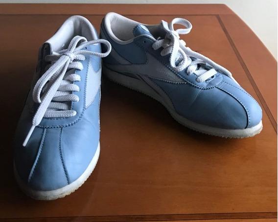 Tenis Reebok Piel Color Azul