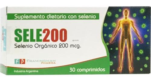 Sele200 Selenio Orgánico Antioxidante X 30 Comprimidos