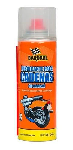 Imagen 1 de 5 de Lubricante Cadena Moto Aerosol Bardhal 240c
