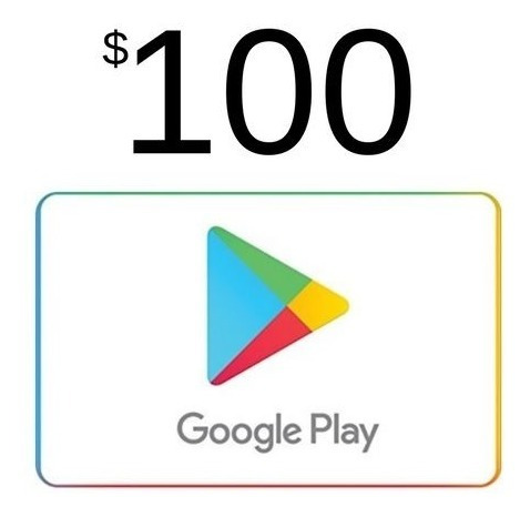 Tarjeta (codigo) Google Play 100mx