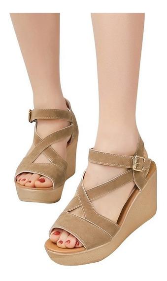 Sandalias De Plataformas De Tacón Alto Para Mujer