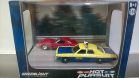 Diorama Hot Pursuit Dodge/corvette Greenlight 1/64