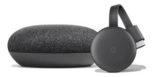 Kit Google Smart Tv Chromecast 3 + Home Mini Bulk S/ Caja