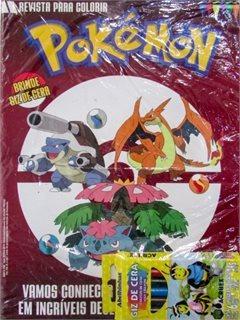 Pokemon Revista Para Colorir 02 Com Giz De Cera/ On Lin