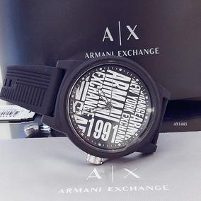 Relógio Masculino Armani Preto Silicone - Ax1443