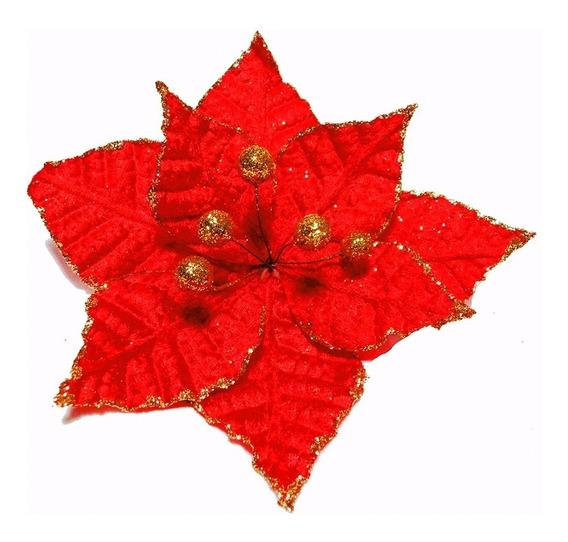 Flor 20cm Para Arbol De Navidad Adornos Decoracion