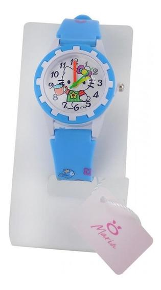 Relógio Infantil De Ponteiro Com Desenho E Com Pilha Reserva