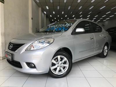 Nissan Versa Sl 1.6 Flex 2013 Preto Completo Único Dono