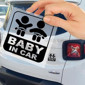 Adesivo Bebê À Bordo Segurança Carro Crianças Gêmeos