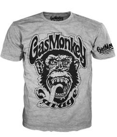 Gas Monkey Garaje Playera Gris Jaspe Cualquier Modelo