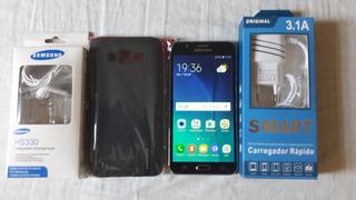 Celular Samsung J7 J700 M/ds + Acessórios Sem Detalhes.