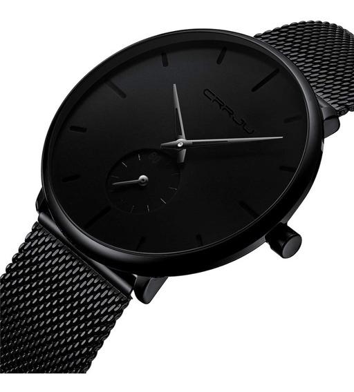 Promoção Relógio Masculino Crrju 2150 Original Preto