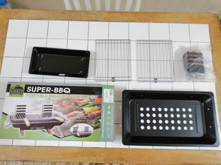 Parrilla Super Bbq Portable Hibachi Barbecue Set