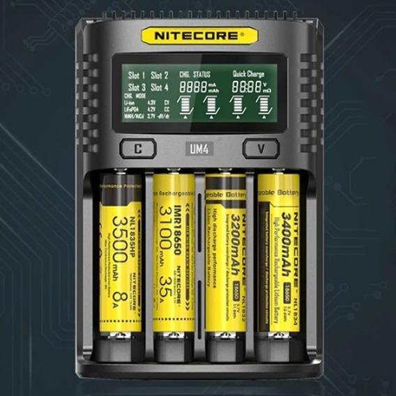 Carregador De Bateria Nitecore Um4