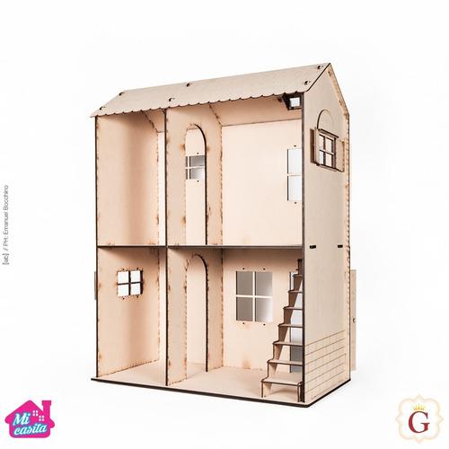 Casita Casa De Muñecas Para Barbie Fibro Fácil Sin Muebles