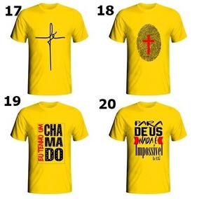 Kit Pronto C/ 5 Camisetas Masculina Evangelicas Revenda