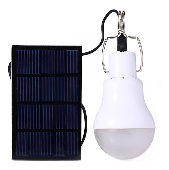 Foco Led Solar Recargable Portatil Camping Blanco /e