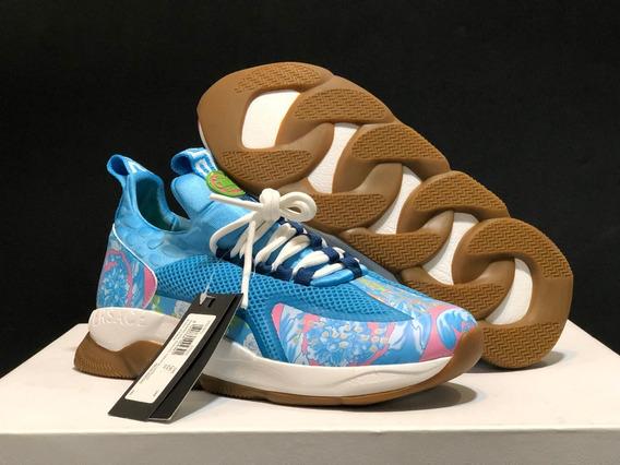Tenis Versace Cross Chainer Blue