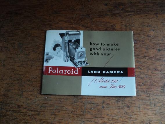 Manual Polaroid 150 De Fole Em Ingles Só O Manual Usado