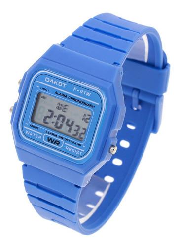 Reloj Dakot Niño 353 - Caucho Wr Crono Alarma Luz Vintage