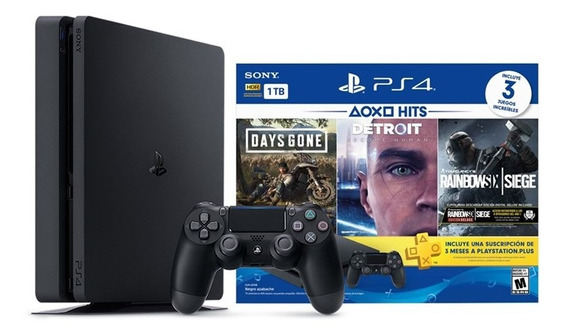 Playstation 4 Slim 1tb Hits Bundle 5 + 3 Jogos