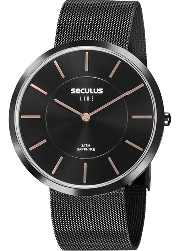 Relógio Masculino Seculus Line Sapphire 20773lpsvps2