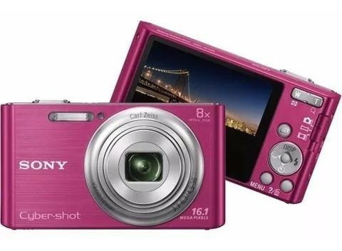 Câmera Sony Cyber-shot W730 Rosa 16.1 Mp + Card 8gb Grátis