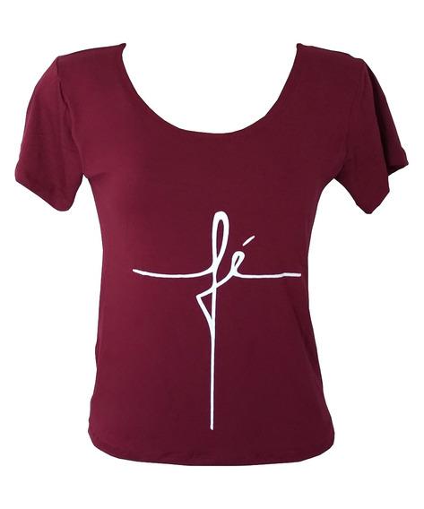 Camiseta T-shirt Viscolycra Frases Fé