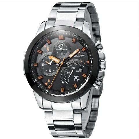 Relógio Correia De Aço De Quartzo Longbo 80228g