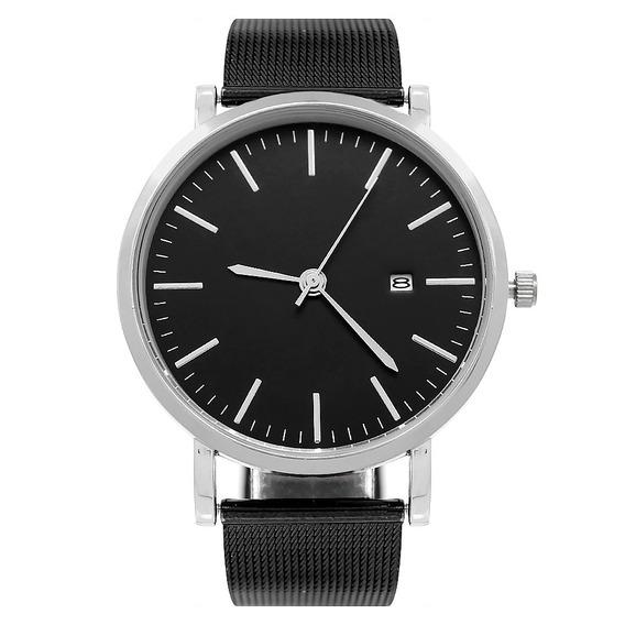 Reloj Caballero Casual Análogo Minimalista Fechador Nero P-n